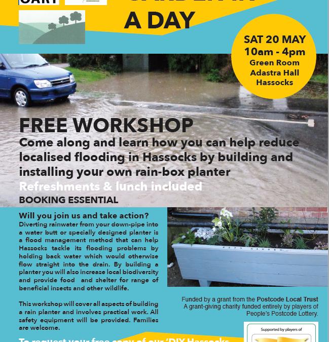 20th May. Build a rain garden