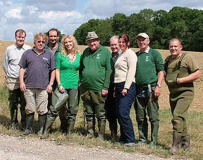 The Task Force with TV presenter Kaddy Lee-Preston during the filming of a BBC wildlife programme