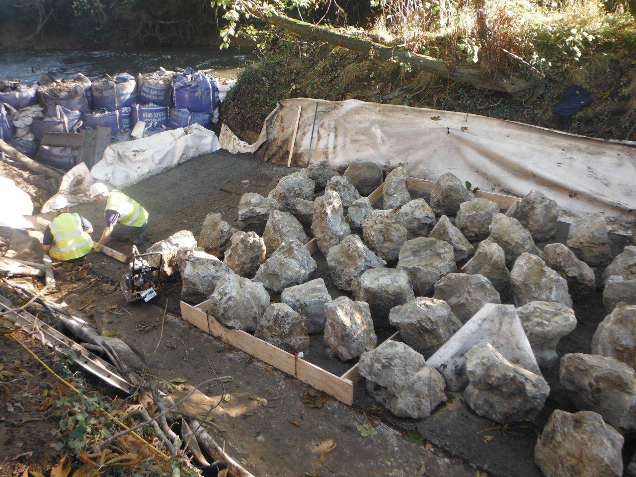 Rocks Placed in the Channel Sharpsbridge