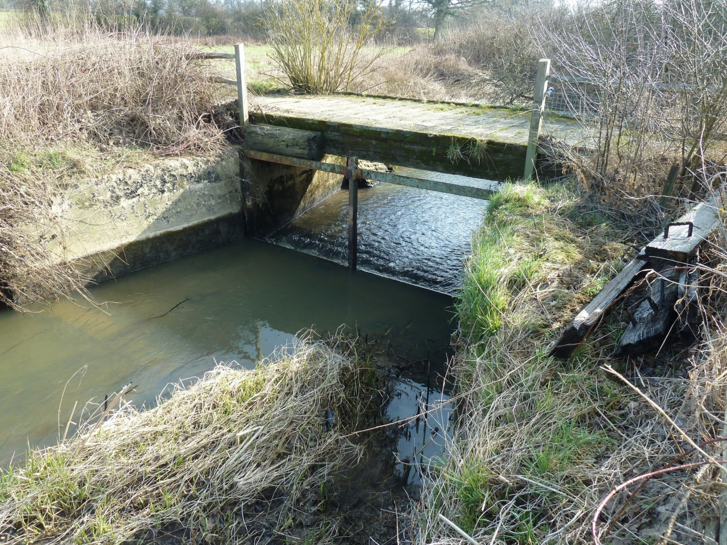 Shipley Penstock with the Boards Removed