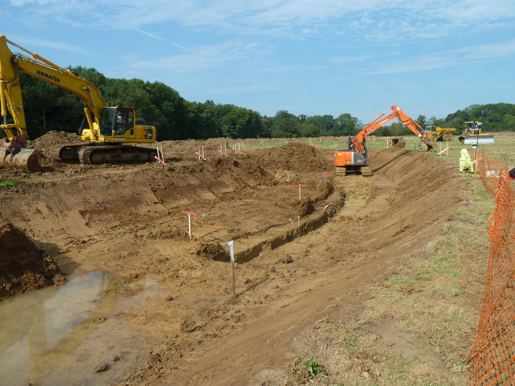 Excavation Begins Spring Meadow