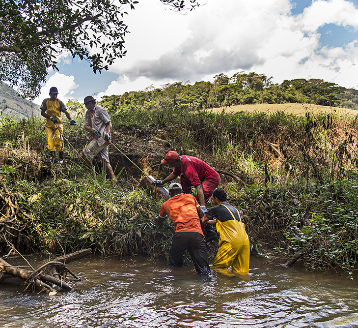 OART share river restoration ideas with Brazil